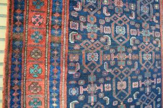 Superb Qualty Kurdish Bidjar circa 1900's Heavy very good wool on wool warp weft and knots. size 226 x 136 cm