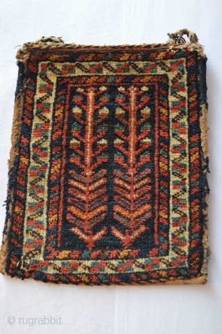 RARE,Diminutive Colorful end 19th century  Afshar Bag/Chanteh 