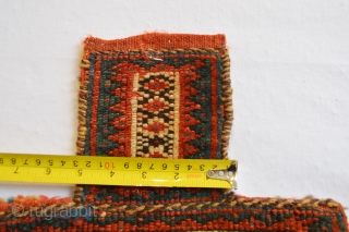 Beautifull 19th century Tribal Afshar Saltbag or Spice Bagface