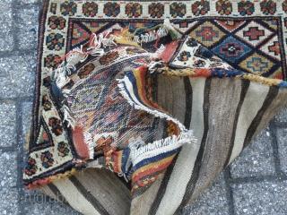 Antique Nice Shasevan piled bagface. Original kilim back. Good colors and wool.