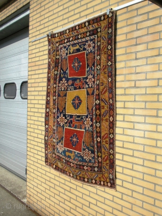 Amazing Colorful Masterpeace of design Caucasian Karagashli Antique Rug.  1875 - 1890 . Good saturated Natural Colors, Good Drawning , Good collectibel Art.