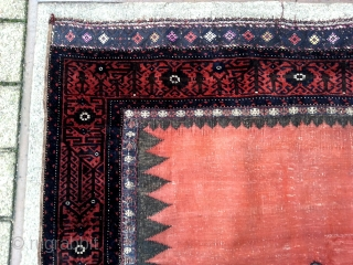 Rare type Antique khorasan XL Sofre so called Ru-Korsi. end of 19 th century to 1900. with metal threads in the sumak or kelim ends and silk.