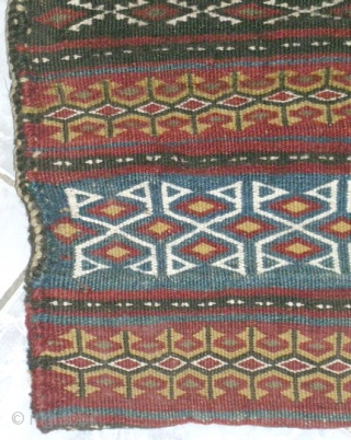Persian salt bag  North East origin at Khorasan province by Kalat tribal ( the famouse one in nice and good quality of art) size:0.46cmx0.27cm,circa 1920. mint condition,no ends or sides missing,neddle work on flat  ...