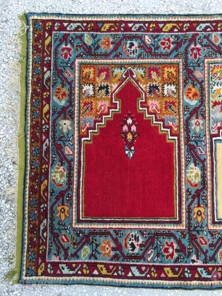 """Central Anatolian (kırşehir) Safh Rug 19th Century Size:312x114cm / 10'3""""x3'9"""""""