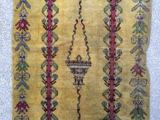 "Central Anatolian Kırşehir(Mucur)Rug Size :373  X 111cm / 12'3""x3'8"""