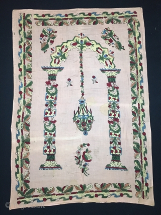 "Hand Block Printed Anatolian Quilt early 20th Century. 126x88 cm / 4'2""x2'11"""