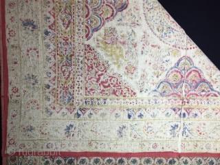 Kalamsah block print textile-Begining of 20th Century size:140X164cm / 56x64 inc