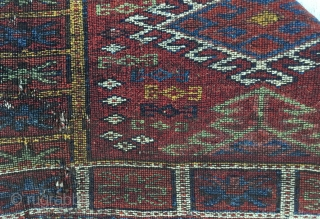 "Central Anatolian Turkish Yatak Yastık From Konya (Ikonium) Nuzumla village 19th Century Size:80x77cm/2'10x2'7""/33x30inches...."