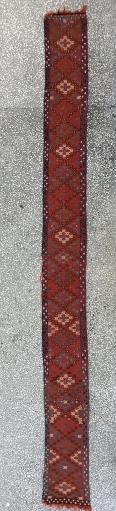"Central Anatolian Konya-Obruk Cicim Band 19th Century  Size:360x32Cm / 11'10""x1'1"""