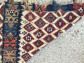 "East Anatolian Kilim fragment, almost certainly Adana. 19th century.  Size:254x81cm  / 8'4""x2'8"""