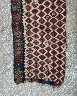 East Anatolian Kilim fragment, almost certainly Adana. 19th century. 