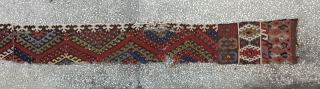 """Central Anatolian Hotamış Kilim Fragment 19th Century... Size:426x31Cm / 14""""x1'1"""""""