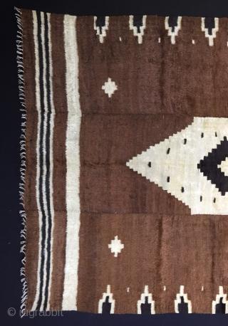 "Anatolian Goat Hair (Angora Wool)Siirt Blanket Size:180x134cm / 5'11x4'5"""