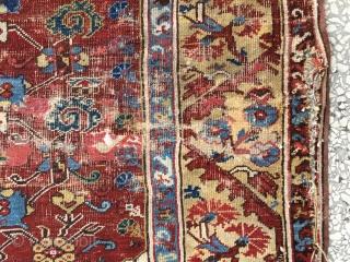 "Western Anatolian Kula Rug—Beginning of 19th Century Size:156x128Cm / 5'2""x4'2"""