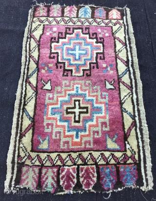 """Central Anatolian Yastik """"Konya"""" Size:96x58cm / 3'2""""x1'11"""" / 38x23  inç..."""