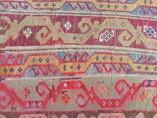 """Central Anatolian Yastik probably """"Sivas"""" Size:82x55cm / 2'9""""x1'10"""" / 33x22 inc..."""