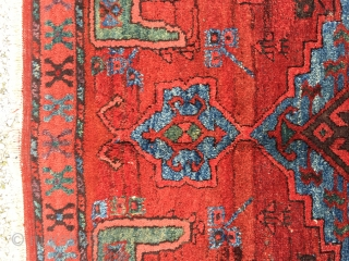 "Central Anatolian Karaman Area(Ayrancı village Rug) end of 18th / beginning of the 19th  Century Size:286x140 Cm /9'5""x4'6"" Very high pile,great dyes..."