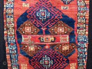 East Anatolian Kurdish yastik,  Size:85x52cm / 34x21 inc