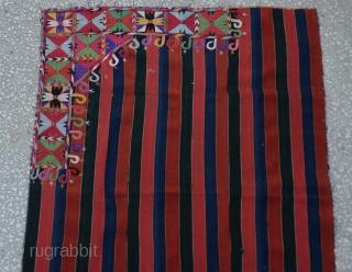 "19th cent Lakai embroidery Bohca,beautiful,delicate ,unusual design,silk on wool,cm.138x95 Cm 4'5""x3'2"""