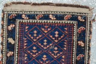 Antique Caucasian Bagface Carpet 