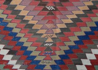 "19th Century Anatolian Konya Kilim Fragment Size 403 x 144 Cm. 13'3""x4'9"""