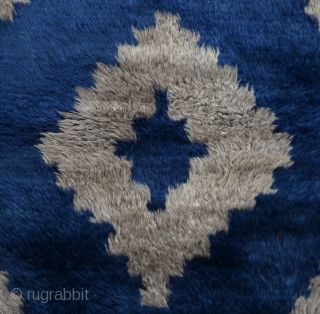 Central Anatolian Old natural Tulu Rug Size:85 x 125