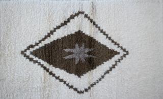 "Central Turkish Angora Tulu Rug Size:99 x 174Cm          3'3"" x 5'9"""