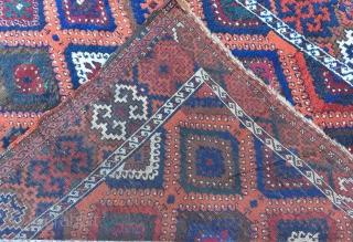"East Anatolian Kurdish Rug(G.Antep),19th Century  Size:183x123cm\5'11""x4""\71x48inches..."