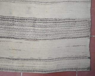 From Niğde-Central off Turkey undyed Tulu Rug