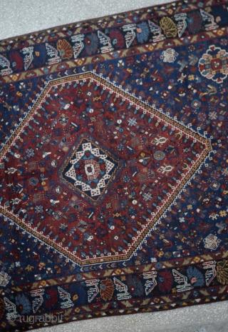 "Antique Shiraz Qasqai Carpet Size:195 x 255Cm         6'5""x8'6"""