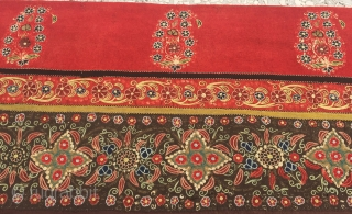 """Rasht Embroidery (Persian) end of the 19th Century Size:251x162cm/8'2""""x5'3"""""""