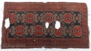 "Ikat Design Beluch fragment Rug  size:194 x 110 cm           6'6"" x 3'8"""