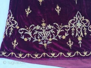 "Ottoman coat midth 19th century Size:140x154cm/4'8""x5"""