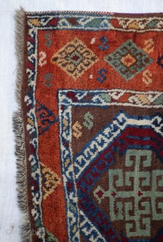 Kurdish rug wonderful colours and excellent condition like dream colours Circa 19th  size:239x90 Cm          7'10x3''