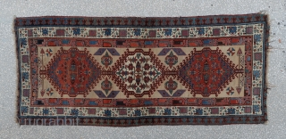 """FROM PERSIAN-SERAP RUG-BEATIFUL COLORS 19TH CENTURY SIZE:95X217Cm        3'1X7'3"""""""