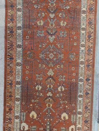 Antique Khotan rug         Size:187x381 Cm                 6'2x12'8