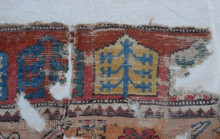 18th Century  Central Anatolian  Konya Rug Fragment.Size 115 x 177 Cm                        ...