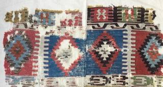 "Konya Kilim Fragment,(Seydisehir) Beginning of 19th Century  Size: 153 x 295 cm]          5"" x 7'9"""