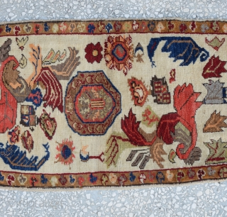 Central Anatolian Yastik (KONYA) unusual design 