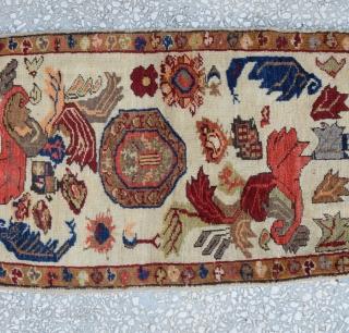 Central Anatolian Yastik (KONYA) unusual design  Quarter of the 20th Century size:95 X 52 cm