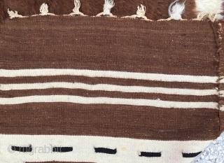 "Siirt Blanket-Southeast Anatolia-early 20th century-Angora goat hair on cotton string warps-Size:106x149cm/ 3'6'x4'10"""