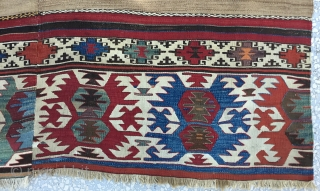 """West Anatolian 'Aydın'Kilim 19th Century Size:165x370Cm. /  5'5'x12'3"""""""