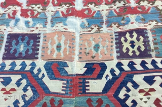 End of 18th Century'Central Anatolian Konya Kilim Early 19th Century 