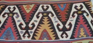 """Central Anatolian Konya Kilim,19th Century Size:170x400Cm/5'6x13'2"""""""