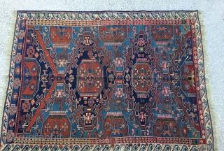 """Caucasian Sumak Kilim,late 19th Century Size:177x139 cm / 4'8""""x6'1"""""""