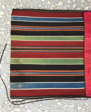 Small Shahsavan silk saddle bag, Circa 1900, in good condition,  fine quality