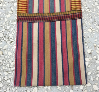 Small Shahsavan silk saddle bag, Circa 1900, in good condition, fine quality Size/ 22x68cm/9x27inc