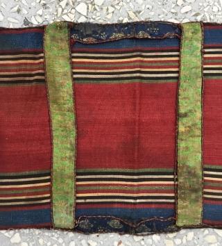 Small Shahsavan silk saddle bag, Circa 1900, in good condition, fine quality Size/ 25x63cm / 10x25 inches