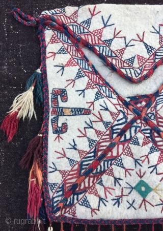 Turkmen felt Bokcha bag  Size:63x53 cm / 25x23 inc