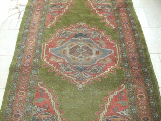 "OLD ZIEGLER MAHAL RUG FROM ENGLISH COUNTRY HOUSE 82""X46""(6'10X3'10"")"